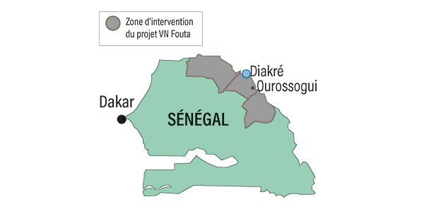 Carte Sénégal 2017
