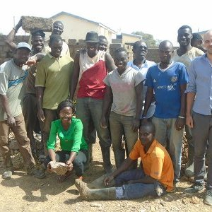 AVN Ghana and the masons in charge of the building site