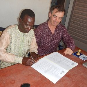 Signature of the partnership agreement with the VTC of Tominian