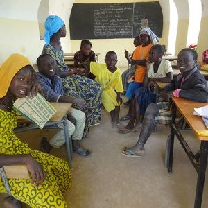 Literacy room in Déguembéré